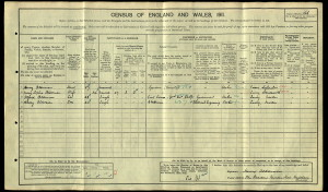 The Aldermans' Entry into the 1911 Census